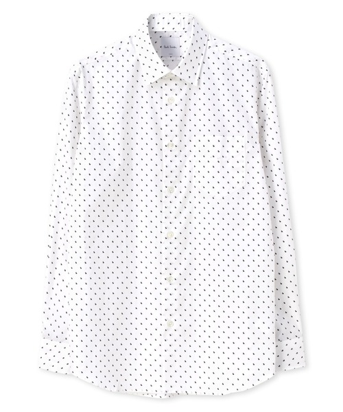 RABITT PRINT ドレスシャツ / 203215 800PN