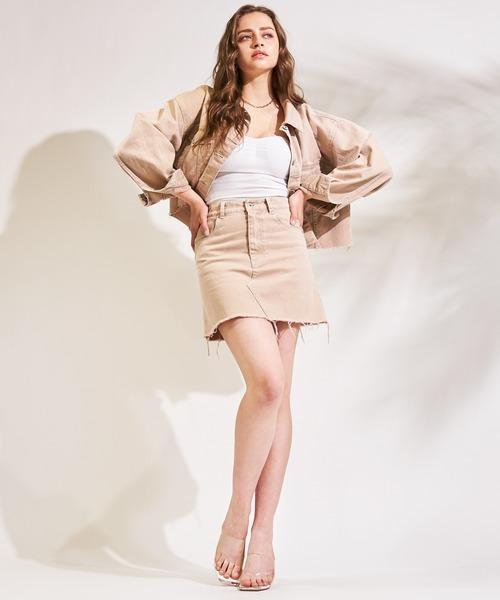 【超十代 やしろななさん着用】カットオフミニスカート