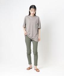 【 GOODWEAR / グッドウェア 】レギュラーフィット 半袖クルーネックポケットTシャツ ヘンプコットングレー