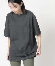 【 GOODWEAR / グッドウェア 】レギュラーフィット 半袖クルーネックポケットTシャツ ヘンプコットンブラック
