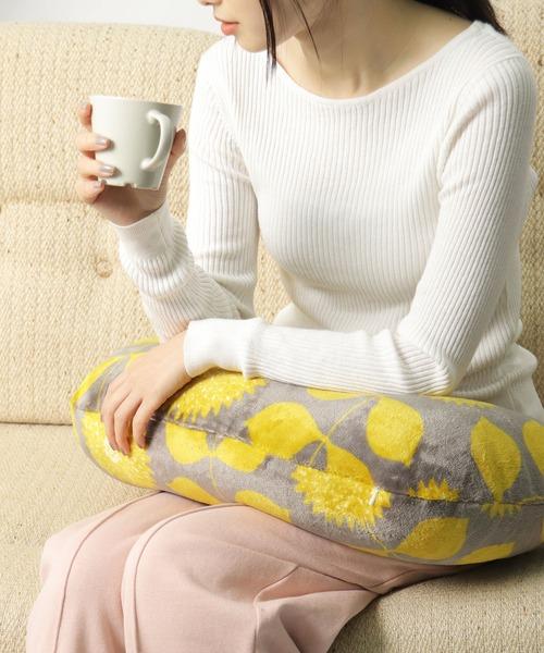 【 MAISON BLANCHE / メゾンブランシュ 】 ぽかぽか フランネル 三日月クッション hokahoka cushion DII