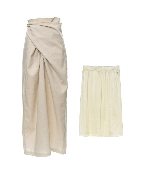 Re:EDIT(リエディ)の「マルチウェイラップコットンスカート(スカート)」 アイボリー
