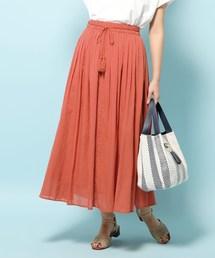 DRESKIP(ドレスキップ)のインド綿ボリュームマキシスカート(スカート)