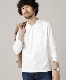 nano・universe(ナノユニバース)のAnti Dry Skin Vネックプルオーバー(Tシャツ/カットソー)