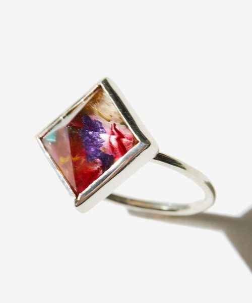 rehacer(レアセル)の「rehacer : ×VISCERAL Flower Studs Ring Made in Japan / × ヴィセラル コラボ フラワー スタッズ リング メイドインジャパン(リング)」|マルチ