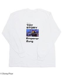 【Disney/Pixar/ディズニー&ピクサー/トイ・ストーリー/ザーグ】ロングTシャツホワイト