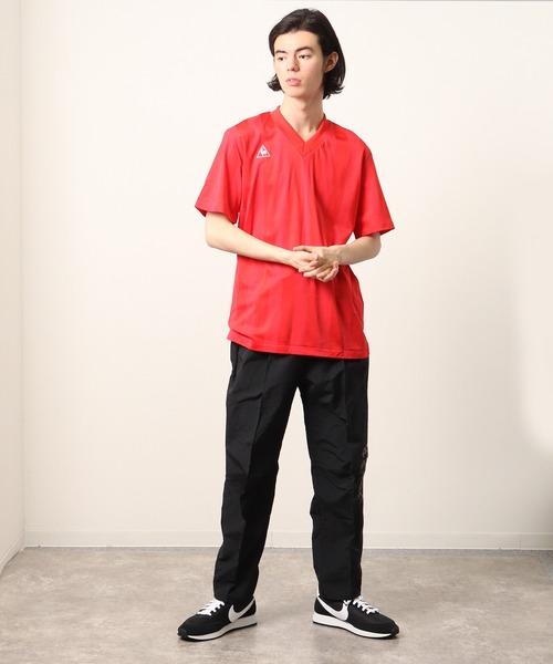 【 le coq sportif / ルコックスポルティフ 】 デッドストック Vネック 半袖ジャージTシャツ