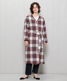 <H>HARRIS TWEED REVERSIBLE COLLAR LESS COAT/コート