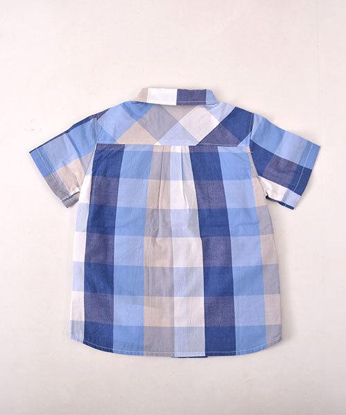 Noeil aim BeBe/【カタログ掲載】サマーチェックデザインポケットTシャツ