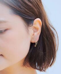★[ シェノン ][ Chainon ]CS K10 フック Wライン ピアス