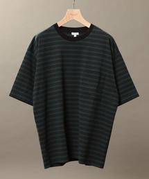 BY ハイゲージコットン ボーダー 樽型 Tシャツ ◆
