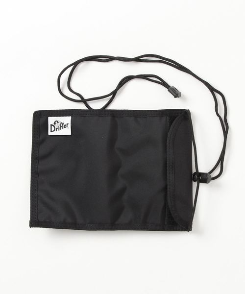 Drifter(ドリフター)の「NECK POUCH/ネックポーチ(パスポートケース)」|ブラック