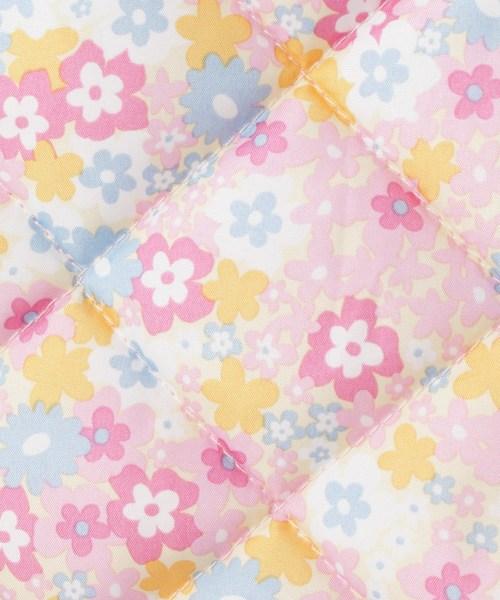 花柄プリントキルトジャケット