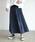 Auntie Rosa Holiday(アンティローザホリデー)の「【Holiday】スウェードプリーツスカート◆WEB限定◆(スカート)」|ネイビー