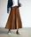 Auntie Rosa Holiday(アンティローザホリデー)の「【Holiday】スウェードプリーツスカート◆WEB限定◆(スカート)」|ブラウン