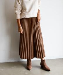 Auntie Rosa Holiday(アンティローザホリデー)の【Holiday】スウェードプリーツスカート◆WEB限定◆(スカート)