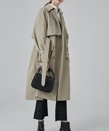 【Fano Studios】【2021SS新色追加】Belted wide trench coat cb-3 FA19W043ベージュ