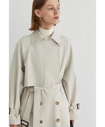 【Fano Studios】【2021SS新色追加】Belted wide trench coat cb-3 FA19W043アイボリー