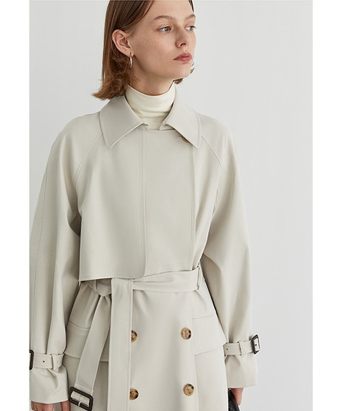 【Fano Studios】【2021SS新色追加】Belted wide trench coat cb-3 FA19W043