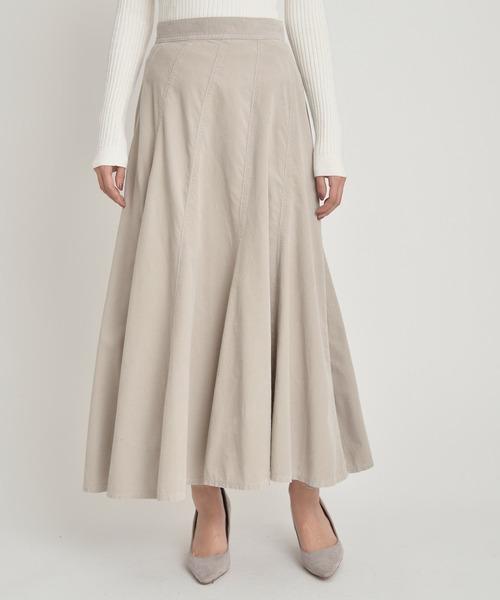 YANUK(ヤヌーク)の「コーデュロイ エスカルゴ スカート - Escargot Skirt(スカート)」|ベージュ