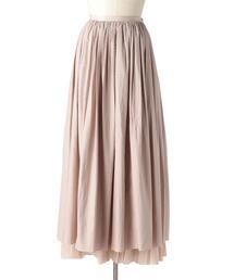 Drawer カラミレースギャザーロングスカート