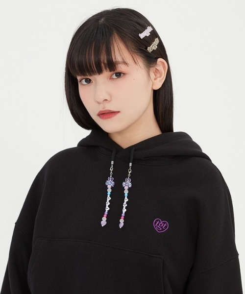 【TARGETTO 】ビーズクロップフーディ / BEADS CROP HOODIE