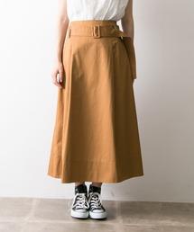URBAN RESEARCH(アーバンリサーチ)のベルト付カラーフレアスカート(スカート)