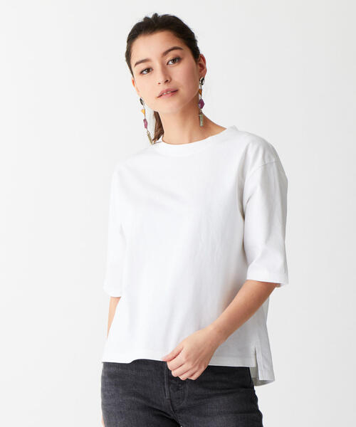 SMF 裾スリット クルーネックTシャツ
