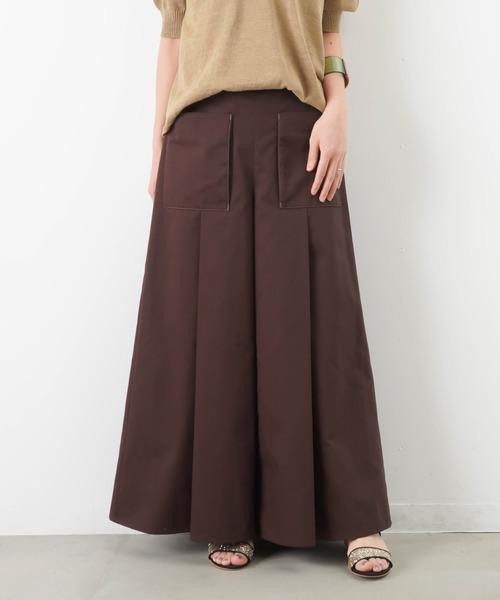 LUCA/LADY LUCK LUCA(ルカ/レディラックルカ)の「LC/LLL ポケットタックワイドパンツ(パンツ)」|ブラウン