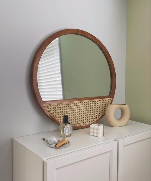 【SANSeLF】rattan decorative wall mirror sanh4