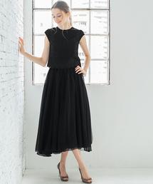 GIRL(ガール)のチュール刺繍ブラウス&オーガンジーボリュームスカートのセットアップウェディングドレス(ドレス)