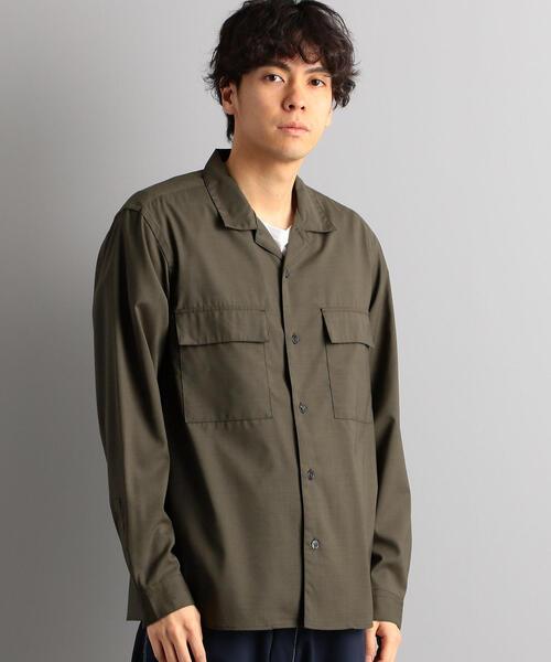 CM T/Wトロ Wパッチ オープンカラー シャツ