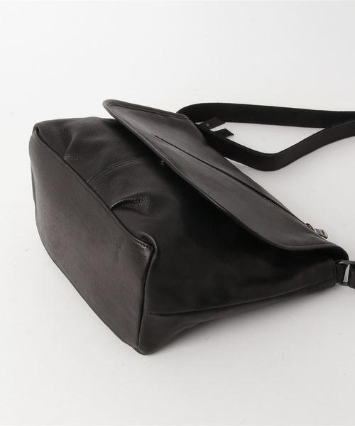 オイルドカウレザー・フラップショルダーバッグ(M) DECADE(No-01165) Oiled Cow Leather Shoulder Bag