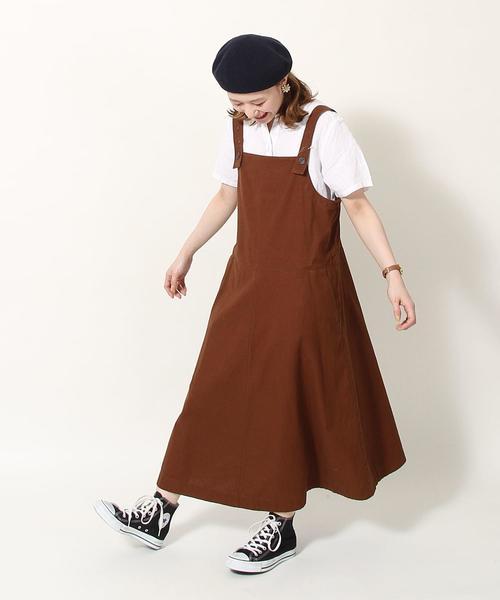 綿麻ジャンパースカート