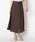 HELIOPOLE(エリオポール)の「スパンボイルワッシャー ラップデザインスカート(スカート)」|ダークブラウン