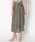 HELIOPOLE(エリオポール)の「スパンボイルワッシャー ラップデザインスカート(スカート)」|カーキ