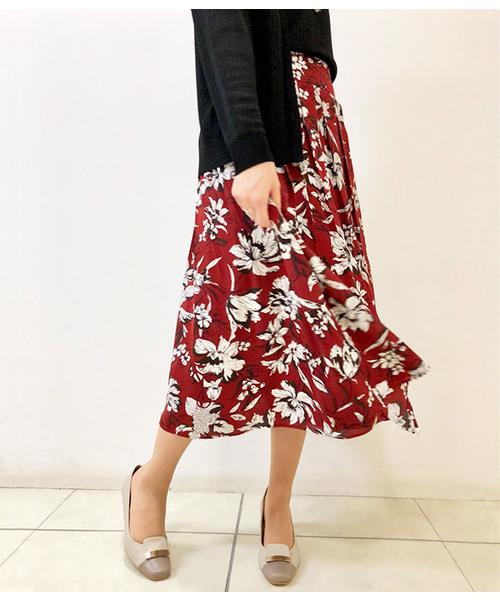 最も  【セール】フラワープリント 美人フレアスカート(スカート)|NEWYORKER(ニューヨーカー)のファッション通販, パジャマ工房:c3e7d140 --- 888tattoo.eu.org