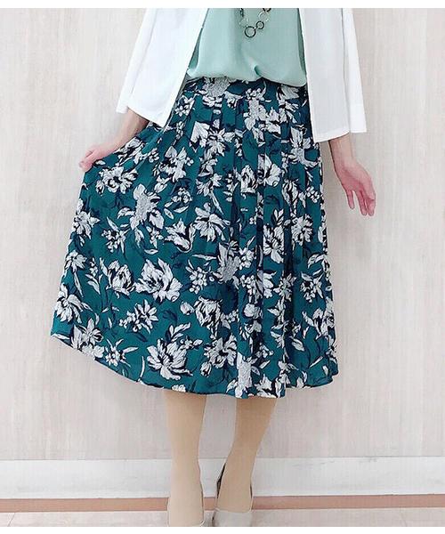【送料無料/即納】  【セール】フラワープリント 美人フレアスカート(スカート)|NEWYORKER(ニューヨーカー)のファッション通販, Love Journey:e7533b8d --- 888tattoo.eu.org