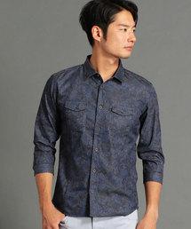 HIDEAWAYS NICOLE(ハイダウェイニコル)の七分袖シャンブレーツイルシャツ(シャツ/ブラウス)