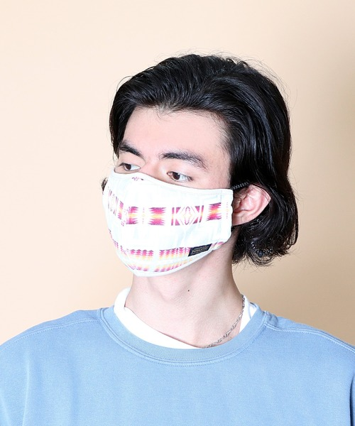 Begin 2021年 2月号 P.39掲載【 PENDLETON / ペンドルトン 】pile fabric mask パイルマスク