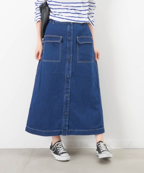 LC/LLL デニムAラインスカート