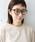 CIBRE(シブレ)の「【UV加工レンズ】ウェリントン型メガネ(メガネ)」|ダークブラウン