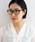 CIBRE(シブレ)の「【UV加工レンズ】ウェリントン型メガネ(メガネ)」|ブラック