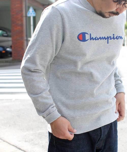 【Champion/チャンピオン】ロゴクルーネックスウェット