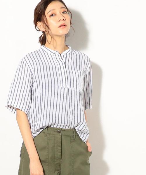 【『リンネル』7月号掲載】フレンチリネンバンドカラーシャツ