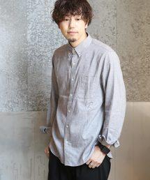 koe(コエ)の起毛フランネルボタンダウンシャツ(シャツ/ブラウス)