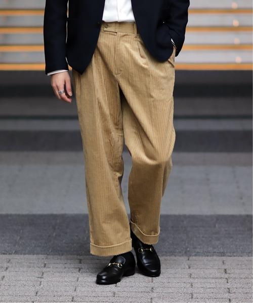 【名入れ無料】 オヤココール ワイドパンツ(パンツ)|EDIFICE(エディフィス)のファッション通販, トマリムラ:01497245 --- blog.buypower.ng