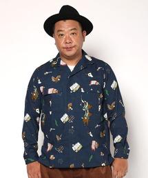 BUCCA 44(ブッカフォーティーフォー)の「【BUCCA 44】ウェスタンプリント総柄オープンカラーシャツ(シャツ/ブラウス)」