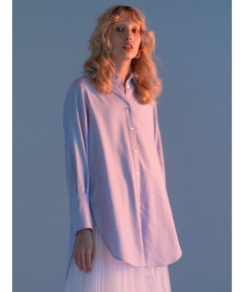 ファッションなデザイン サイドスリットシャツ(シャツ/ブラウス)|styling/(スタイリング)のファッション通販, クロイシシ:dce0b4c6 --- pitomnik-zr.ru