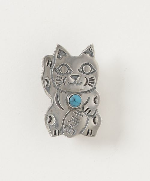 Munqa / NEWTIVE Badge Turquoise MANEKINEKO(招き猫)